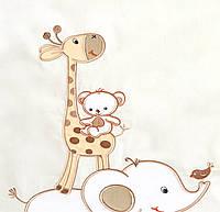 Комплект постельного белья Italy cotton Жираф 6 пр, фото 1