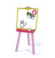 Детский двухсторонний мольберт Smoby Pink 18 элементов (28050)