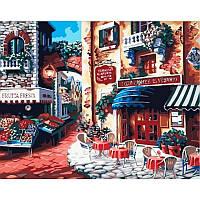 """Картина раскраска по номерам """"Итальянская улица Вкус Италии"""" набор для рисования"""