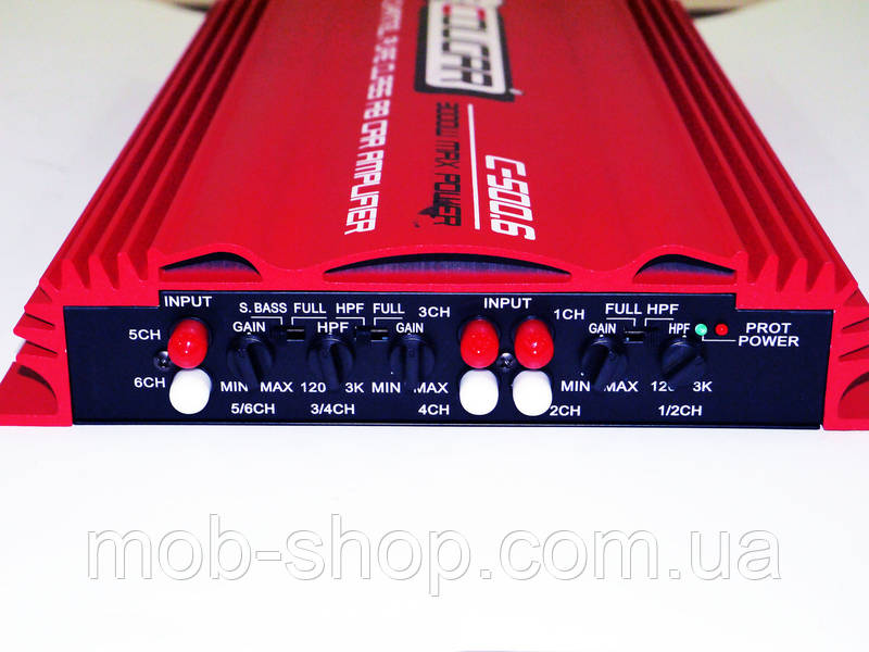 Автомобильный усилитель звука Cougar 3000Вт 6 Х 500Вт