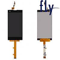 Дисплейный модуль (дисплей + сенсор) для Fly IQ4511 Tornado One, черный, #G4560010488LA, оригинал