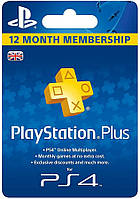 Playstation Plus 365 дней UK (конверт)