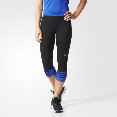 Леггинсы спортивные женские adidas Licras 3/4 AA0675 (черные, тренировочные, фитнес, эластичные, бренд адидас)