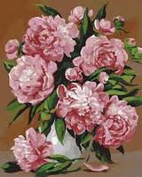 """Картина раскраска по номерам """"Красота пионов"""" набор для рисования"""