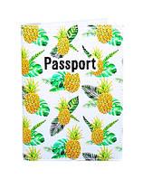 "Обложка на паспорт ""Ананасы"""