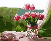 """Картина раскраска по номерам """"Идеальное утро"""" набор для рисования"""