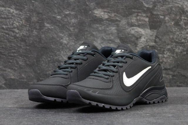 Чоловічі осінні кросівки Nike Air Max темно-сині з білим  bb6b5e7f13514