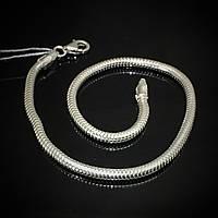 Серебряный браслет, 210мм, 6,6 грамма, плетение Снейк