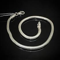 Серебряный браслет, 210мм, 6,5 грамма, плетение Снейк, фото 2