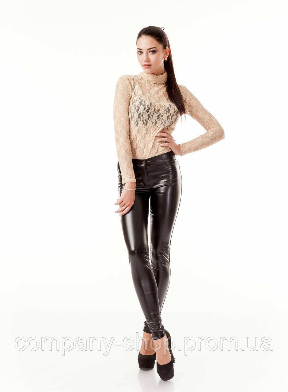 1353c14d6ad99 Леггинсы брюки комбинированные с кожей. Модель L059_черный.: продажа ...