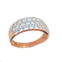 Золотое кольцо  Шик с фианитом