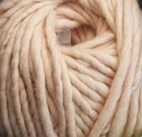 Толстая пряжа из 100% шерсти Цвет телесный Пряжа для толстого вязания