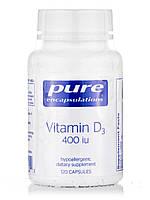 Вітамін D3 400 IU, Vitamin D3 400 IU, Pure Encapsulations, 120 Капсул, фото 1