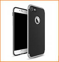 Металлический бампер Ipaky с карбоновой накладкой для IPhone 7/8 Silver