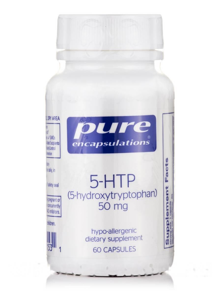 5-HTP (5-Гидрокситриптофан) 5-HTP (5-Hydroxytryptophan), Pure Encapsulations, 50 мг 60 капсул