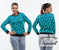 Женский свитер из ангоры с узором  (48-54)