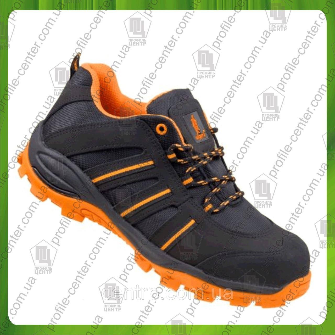 Туфли рабочие кожаные с металлическим носком URGENT 261 S1 (текстиль+натур.нубук)