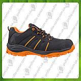 Туфли рабочие кожаные с металлическим носком URGENT 261 S1 (текстиль+натур.нубук), фото 2