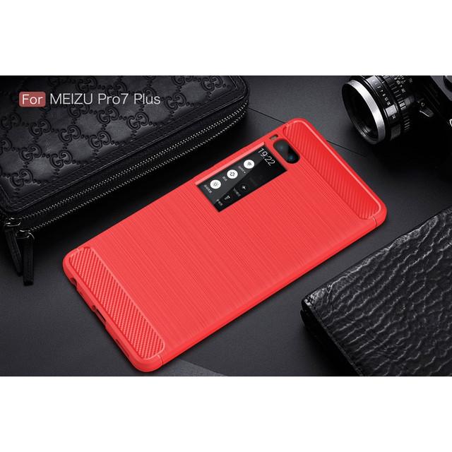 чехол carbon fiber Meizu PRO 7 plus красный