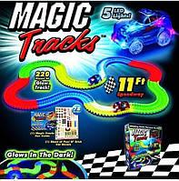 Оригинальный Magic Tracks 220 деталей 5 LED 2 БАТАРЕЙКИ