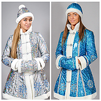Новогодний костюм Снегурочки голограммный   Костюм Снегурочки для взрослого