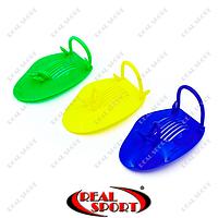 Лопатки для плавания PL-6930 (пластик, резина, PVC чехол, цвета в ассорт.)
