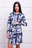 Женское платье-рубашка легкое в 2х цветах PL-1528