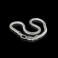 Серебряный браслет, 185мм, 6 грамм, плетение Снейк
