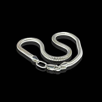 Серебряный браслет, 190мм, 6 грамм, плетение Снейк, фото 2