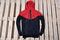 Мужская теплая ветровка/куртка/виндраннер найк (Nike), на флисе реплика, фото 1