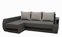 Угловой диван Garnitur.plus Граф светло-серый 245 см