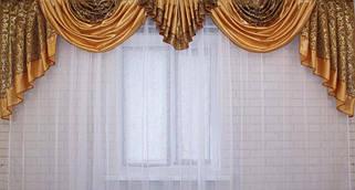 Ручная выкладка со шторной тканью и блэкаутом
