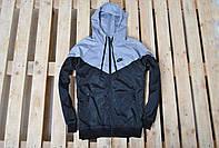 Мужская теплая ветровка/куртка/виндраннер найк (Nike), на флисе