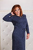ДР1291 Ангоровое платье с капюшоном, фото 3