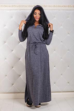 ДР1291 Ангоровое платье с капюшоном, фото 2