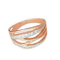 Золотое кольцо с фианитом 1-588