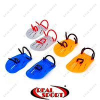 Лопатки для плавания гребные PL-6392 (пластик, резина, р-р S-L, цвета в ассотр.)