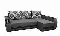 Угловой диван Garnitur.plus Граф светло-графитовый 245 см