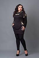 Туника-жилетка мод 211-1 размер 52,54,56 темно-коричневая