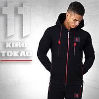 Спортивная толстовка мужская Kiro Tokao 137 черный-красный