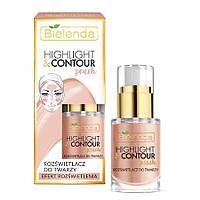Жидкий хайлайтер Bielenda Highlight and Contour Peach Illuminating Face Cream