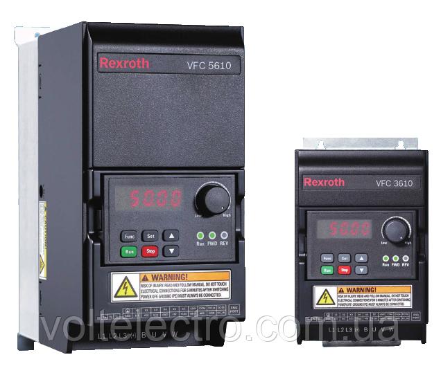 Преобразователь частоты VFC 5610 Bosch Rexroth  1,50 kW, 3 AC 380 - 480 V, 50/60 Hz, 4,0 A