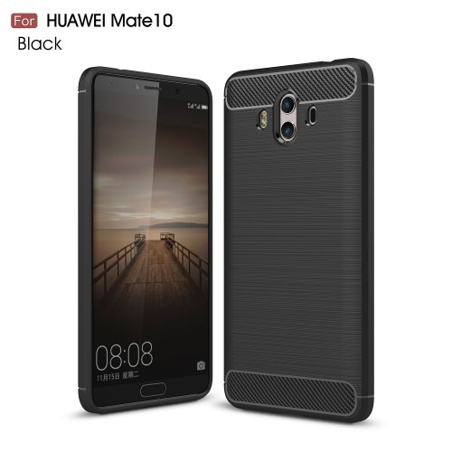 Чехол накладка TPU Fiber Carbon для Huawei Mate 10 черный
