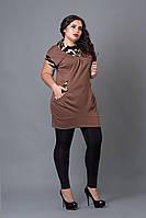Туника-жилетка мод 211-2 размер 52,54,56 светло-коричневая