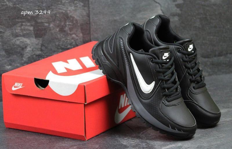Чоловічі осінні кросівки Nike Air Max чорні з білим b69372c10a348