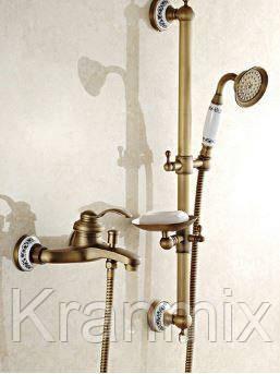Бронзовая душевая стойка Aquaroom в ванную кран в раковину смеситель для умывальника