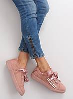 Розовые женские кеды H99-40