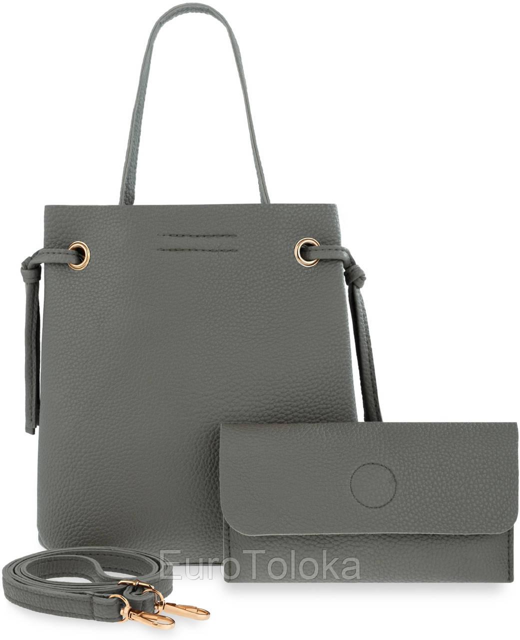 471cbdaf15bb Женская сумка 2в1 клатч MAGNES серый Польша - EuroToloka в Волынской области
