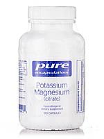 Калій Магній (цитрат), Potassium Magnesium (citrate), Pure Encapsulations, 180 капсул, фото 1