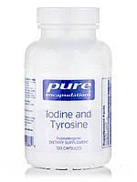 Йод и тирозин, Iodine and Tyrosine, Pure Encapsulations, 120 капсул, фото 1